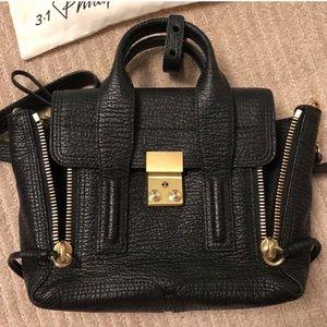3.1 Phillip Lim Mini Pashli Tote Bag (Black, Gold)
